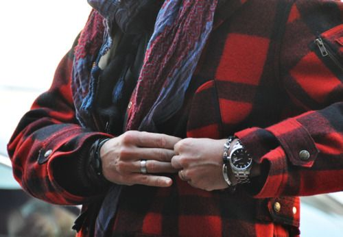 I have this strange attraction to Black and Red plaid…I am always immediately drawn to it. Oh and this coat is pretty badass too.