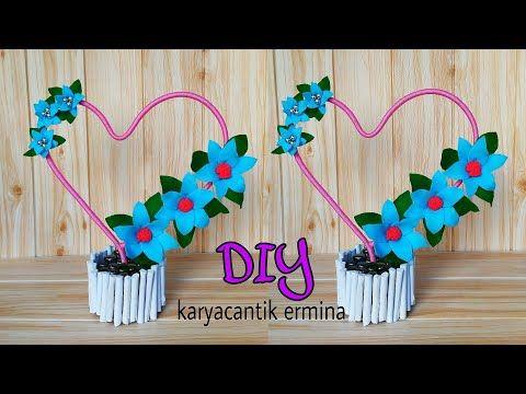 Tutorial Handicraft Love Diy Hiasan Meja Bentuk Hati Youtube Christmas Ornaments Diy Handicraft