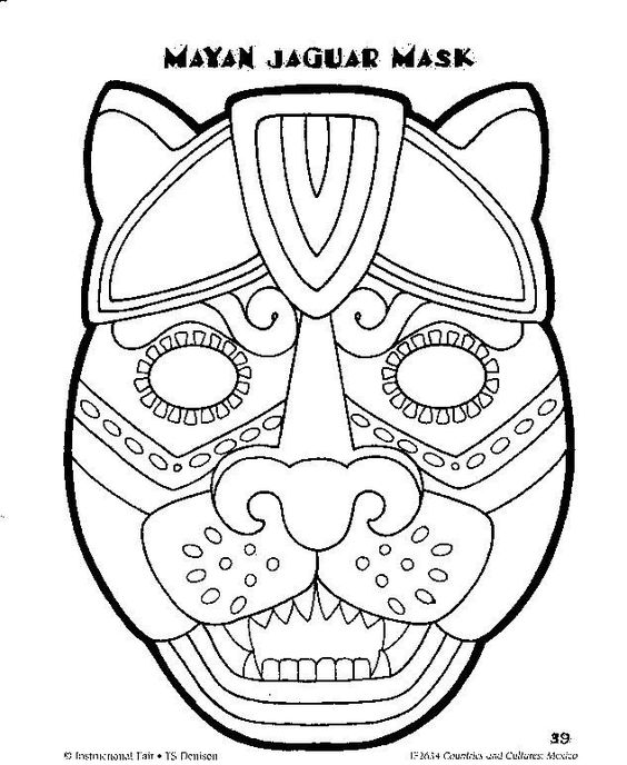 aztec mask template pinterest the world s catalogue of ideas