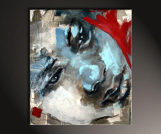 """Abstrakte Bilder, Michaela Steinacher: """"Why so sad"""" - Abstrakte Kunst Galerie Inspire ART"""