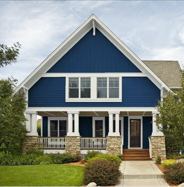 Blue Cottage House Exterior Bungalow Paint Colors Pinterest Cottage House Exterior Paint