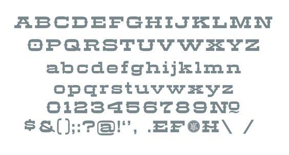 Letterform Design Font / LHF Aledo Regular Glyph Set / Vintage, Decorative, Western, Roman Font