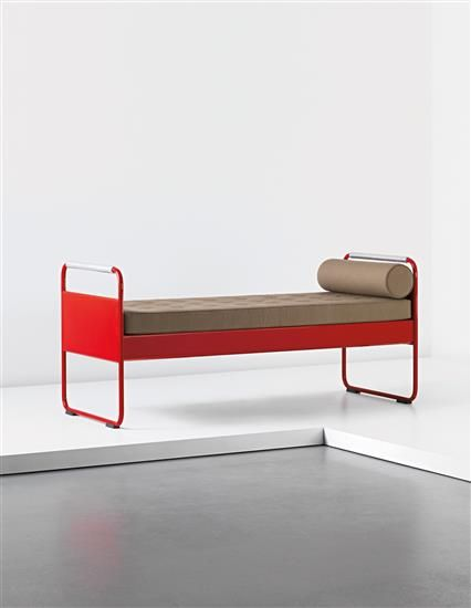 Single bed, model no.17, for the Lycée Fabert, Metz, Manufactured by Les Ateliers Jean Prouvé, France. 1935-1936      Literature: Peter Sulzer, Jean Prouvé: Œuvre complète / Complete Works, Volume 2: 1934-1944, Basel, 2000, p111, fig.534.2,3, p113, fig.536 for a brochure  Galerie Patrick Seguin, Jean Prouvé, Volume 2, Paris, 2007, p354