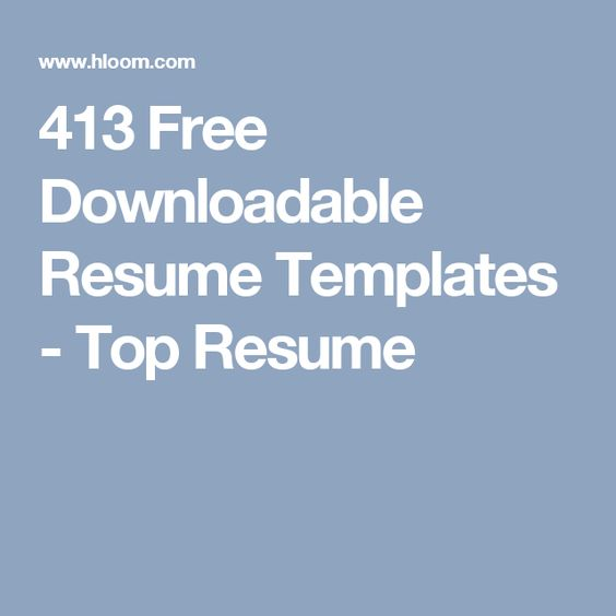 413 Free Downloadable Resume Templates - Top Resume vida - top resume templates