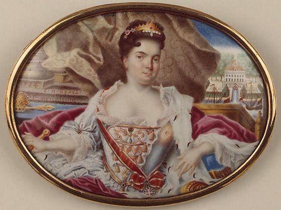 Miniatura con el retrato de Catalina I