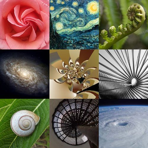 spirals of different styles