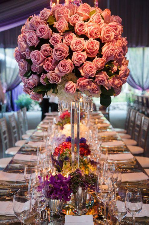 Bahamas Boda, boda de playa, Ceremonia al aire libre de la púrpura, la púrpura Recepción nupcial | | Bodas Colin Cowie