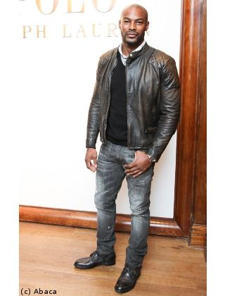 Tyson Beckford : style casual chic en cuir motard