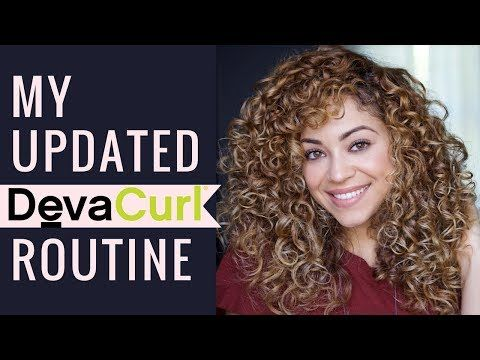 Updated Devacurl Routine Review Curly Hair Youtube Curly Hair Styles Deva Curl Curly Hair Tips