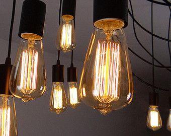 Lampe de plafond ampoule Edison - suspendus pendentif industrielle de bricolage ensemble - ampoules edison - Lampe - Ampoule E27 Squirrel Cage Filament - - 110v, 220v