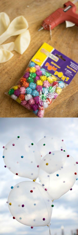 polka dot pom balloons