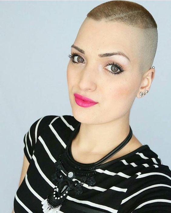 EXTREME WOMEN HAIRCUTS @baldfet @niasyt  #buzz...Instagram photo | Websta (Webstagram)