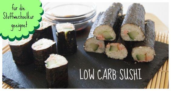 KAkTuSmaEdCHeN: {Rezept} Low Carb Sushi