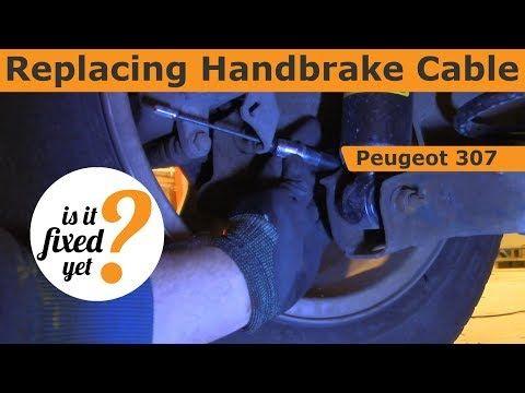 Replacing Handbrake Cable Peugeot 307 Youtube Peugeot Car Fix Car Mechanic