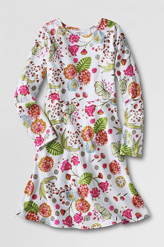 Girls' Long Sleeve Knit A-line Dress