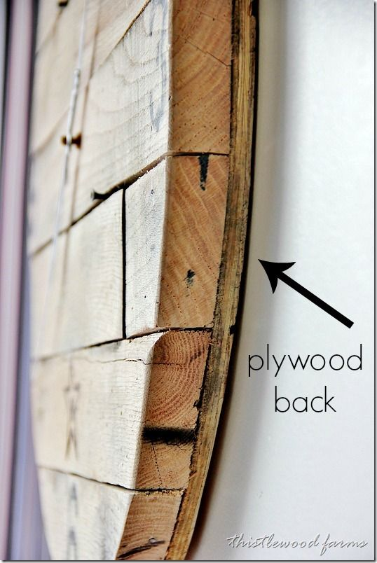 Trash to treasure how to make a pallet wood clock for How to make a wood pallet wall