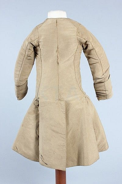 A rare snuff-brown silk boy's coat, circa 1770, - by Kerry Taylor Auctions