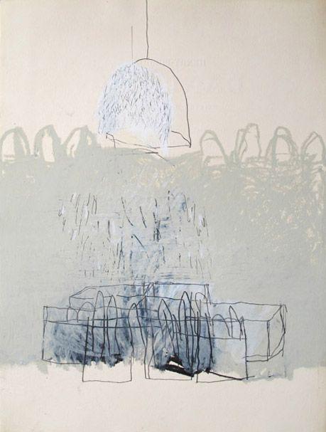 pencil and oil stick by Delphne de Luppe