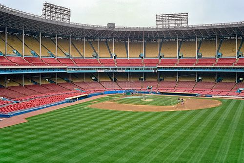 Municipal Stadium Cleveland Mlb Stadiums Baseball Park Baseball Stadium