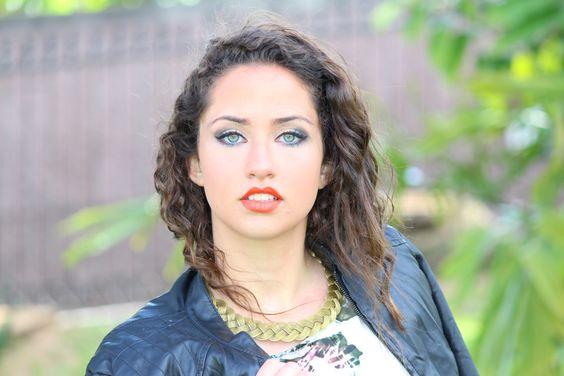Virgínia Sousa, aspirante a modelo, com uma beleza promissora