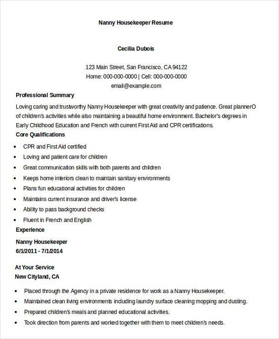 Gunblood Us Nanny Resume Example Nanny Housekeeper Resume Example 9134b452 Resumesample Resumefor Resume Examples Job Resume Examples Job Resume Samples