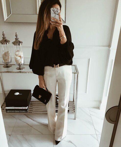Как круто носить брюки с рубашкой, чтобы тебе завидовали коллеги (10 фотоидей)   Новости моды