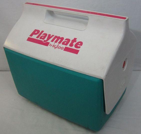 Vintage playmate by igloo teal pink cooler with push - Igloo vintage ...