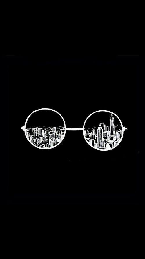 City Glasses Black Wallpaper Dark Wallpaper Tumblr Wallpaper