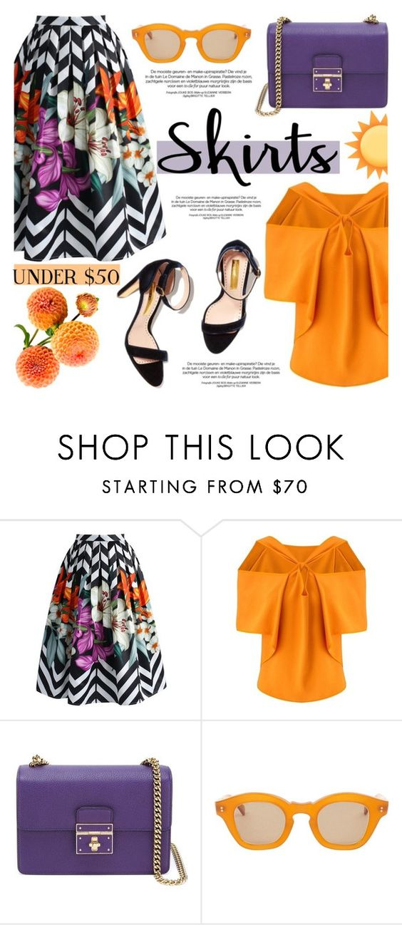 """""""Skirts Under $50"""" by helenevlacho on Polyvore featuring Chicwish, Roland Mouret, Dolce&Gabbana, Hakusan, under50, contestentry and skirtunder50"""