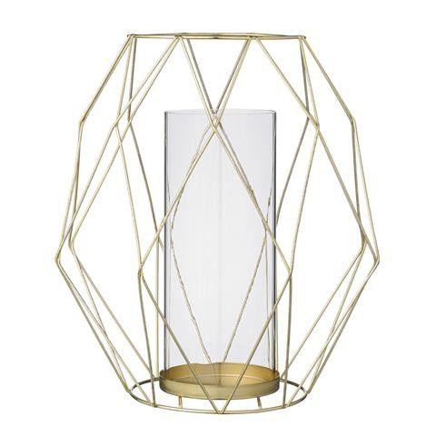 Bloomingville Windlicht in grafischer Form, gold 14,5/27xH30cm - Bloomingville Windlichter - Bloomingville Produkte - Trelimoni