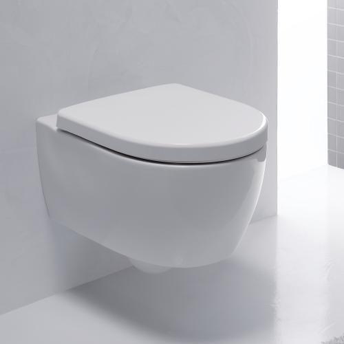 Keramag Icon Xs Wall Mounted Washdown Rimless Toilet Short White