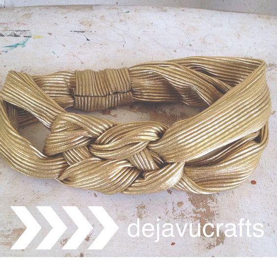 adORable Gold Turban Headband!  Dejavucrafts