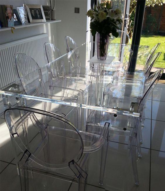 Luxury Glass Work Craftmanship From Www Bocadolobo Com Www Moderndiningtables Net Glass Modern Glass Dining Table Acrylic Dining Chairs Glass Dining Table