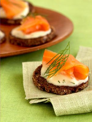 Smoked Salmon With Dijon Crème Fraîche Canapes - they look so elegant, yet take no time to whip up.