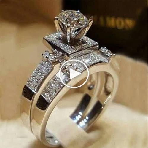 Elegant Argent 925 Saphir Bleu//Rubis Bague Femmes Mariage Engagement Band Bijoux