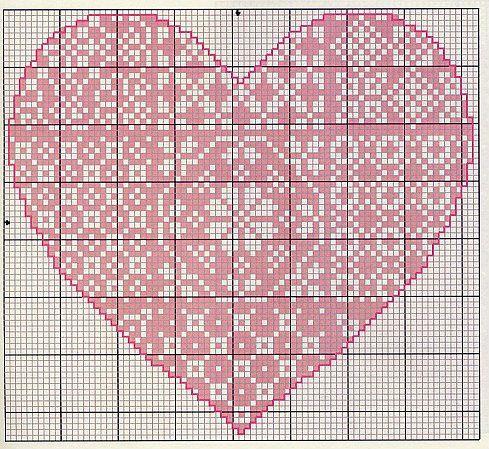 Gallery.ru / Фото #21 - Monocromatico - Blackwork - mantecada  Folklore Heart chart 1