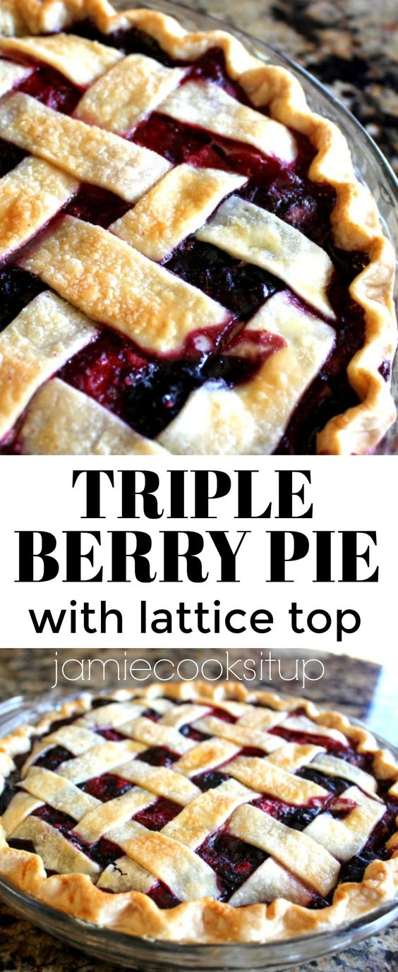 Triple Berry Pie with Lattice Top (Easier than you think!)