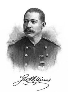 """George Washington Williams.  Civil War veteran, minister, and Ohio's first Black state legislator, Williams published the first formal history of the African American experience, """"The History of the Negro Race in America, 1619-1880"""" (1883)."""