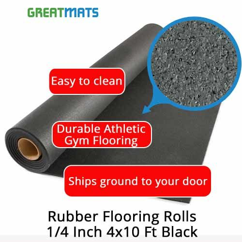 1 4 Inch Rubber Mat Black Rubber Flooring Rubber Flooring Rubber Rolls Rolled Rubber Flooring