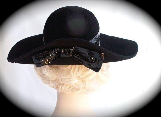 Frank Olive Black Wide Brim Hat Neiman Marcus: