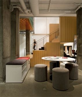 compact casual meeting space at the artopex office furniture showroom in montreal artoplex office furniture