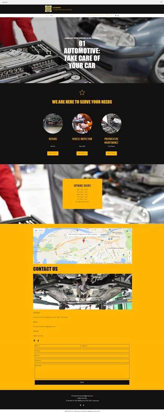 Design car repair workshop - Automotive Auto Repair Workshop
