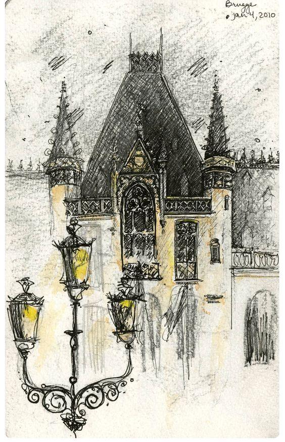 Europe Travel Sketchbook  Nicholas DeBruyne