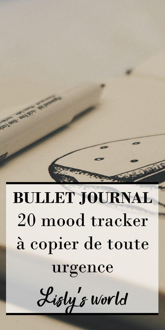 20 mood trackers à copier de toute urgence pour votre bullet journal #bujo #bulletjournal #moodtracker