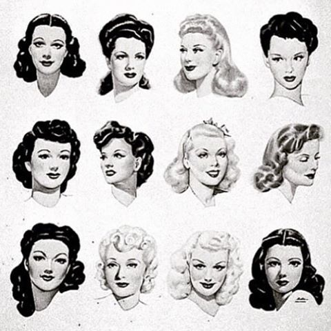Drawing Hairstyles For Your Characters Drawing On Demand Vintage Hairstyles Vintage Hairstyles Tutorial 1940s Hairstyles