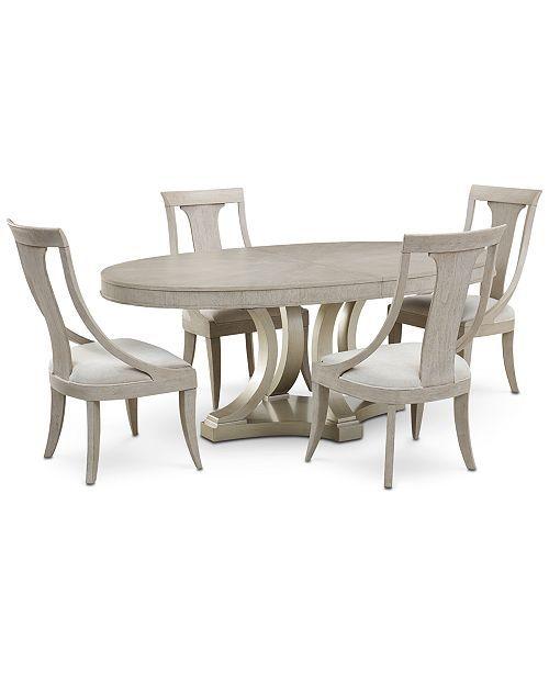 Furniture Rachael Ray Cinema Round Dining Furniture 5 Pc Set