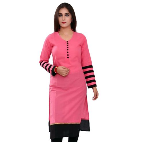 Price Rs.399 | Shop for this cotton plain designer kurti for ...