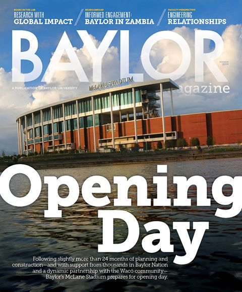 Feature story on McLane Stadium in the new issue of #Baylor Magazine (click to read) #McLaneKickoff