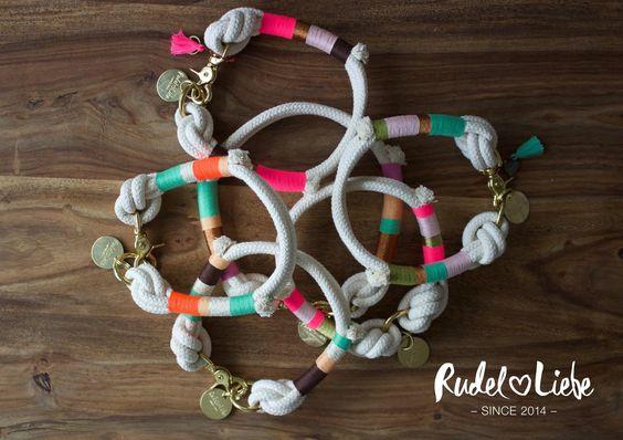 Halsband RIO  Personalisiere den Look deines Hundes!  Gestalte dir deine eigenen Tauhalsbänder für den Hippie Summer of Love www.rudelliebe.de