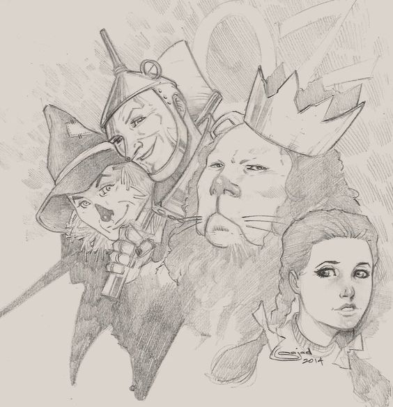 wizard of Oz sketch by Sajad126